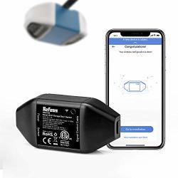Refoss Smart Wi-fi Garage Door Opener No Hub Needed App Control Compatible With Alexa Google Assistant Black