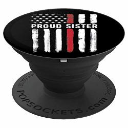 Thin Red Line Sister Firefighter Brother Gift