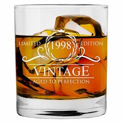 21st 1998 Birthday Gifts For Women And Men Whiskey Glass Funny Vintage 21 Year Old Anniversary Gift Ideas Him Her Dad Mom Reviews Online Pricecheck