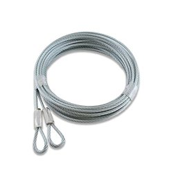 "Garage Openers And Parts Garage Door Cables Extension Spring Door - 3 32"" 7X7 120"" Replacement Cable"