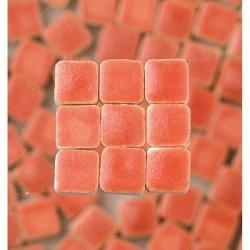 Mosaicmicros MINI Mosaic Tiles Ceramic Glazed 5 X 5 X 3 Mm 10 G 100 Pcs. Salmon-coloured