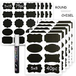 Chalkboard Labels Blackboard Message Label: 115 Sticker For Jars Liquid Pen With Reversable Nib