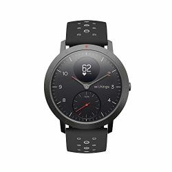 Withings Nokia Steel Hr Sport Smartwatch 40MM - Activity Tracker Heart Rate Monitor Sleep Monitor Gps Water Resistant Smart Watch Black
