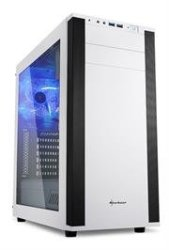 Sharkoon 4044951019335  M25-W Atx Tower PC Gaming Case White With Side Window - USB 3.0 Mounting Possibilities: 1X 5.25 1X 5.25 Or 3.5 1X 5.25