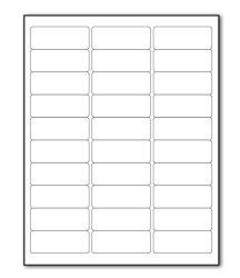 QIMEI 100 Sheets Sticker Labels Shipping Address Labels For Laser ink Jet Printer 30-UP