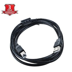 Sllea USB Cable Laptop PC Data Sync Cord Lead For Nektar Impact LX61 61-KEY USB 2.0 Male To Male Cord Black