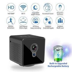 Relohas MINI Spy Camera Wifi 1080P Spy Hidden Camera Upgraded Night Vision Spy Cam Portable Nanny Camera With Motion Detection F