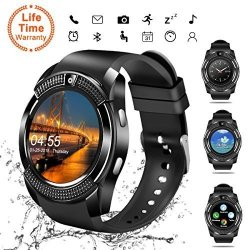 SMART WATCH Bluetooth Smartwatch Touch Screen Wrist Watch With Camera sim Card Slot Waterproof Phone Sports Fitness Tracker For Android Iphone Ios Phones