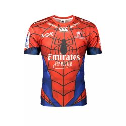 Canterbury Lions Marvel Spiderman Super Rugby Jersey - Kiddies 11 12