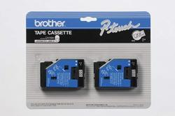 """BrOther P-touch 2 PACK 1 2"""" 12MM Black On Clear P-touch Tc Tape For BrOther PT-12 PT12 Label Maker"""