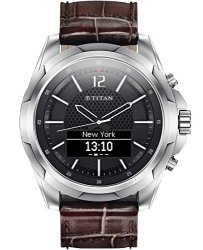 Titan Stainless Steel With Brown Strap - Mens Smartwatch