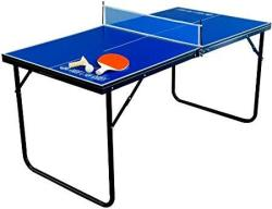 Park & Sun Sports Indoor outdoor MINI Table Tennis Table With 2 Rackets paddles And Balls