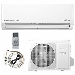 Emerson MINI Split Air Conditioner Ductless System 24000 Btu 17 Seer 230 V Inverter With 2 Ton Heat Pump Wall Mounted Full Set 10FT Installation Kit