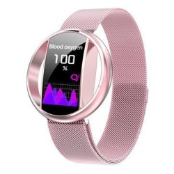 Bakeey E99 Heart Rate Blood Pressure O2 Monitor Target Setting Couple Watch Gift Smar