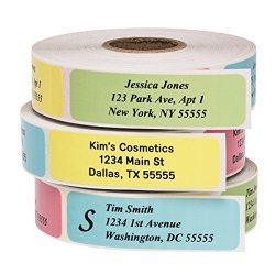 500LABELS Return Address Labels - Roll Of 250 Personalized Labels Multi-color