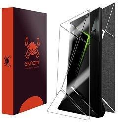 Skinomi Techskin - Nvidia Shield Tv Brushed Steel Full Body Skin Protector Front & Back Wrap Premium HD Clear Film Ultra