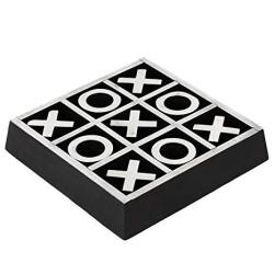 Christmas Gifts Handmade Wooden Tic Tac Toe Game Noughts And Crosses Family Brain Teaser Puzzle Coffee Table For Adults & Childr