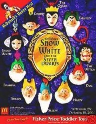 Snow White And The Seven Dwarfs Clip-on Happy