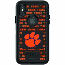 Fan Brander Nba Phone Case Compatible With Apple Iphone Xr With Otterbox Defender With Repeating Design Clemson Tigers