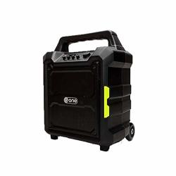 One Party Bluetooth USB Sd Portable Trolley Speaker 80W Rms Black