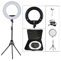 """Yidoblo 96W 18"""" LED Ring Lights Kit FD-480 With Makeup Mirror Light Stand Camera Phone Holder & Carrying Bag Dimmable Bi-color Lighting For Photo Stud"""