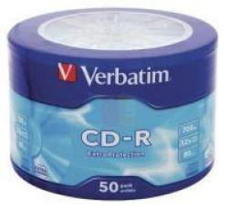 Verbatim CD-R 700MB 52X Extra Protection Wagon Wheel 10 Pack