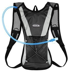 Kuyou Hydration Pack Water Rucksack Backpack Bladder Bag Cycling Bicycle Bike hiking Climbing Pouch + 2L Hydration Bladder Black+water Pouch