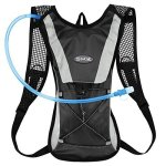Kuyou Hydration Pack Water Rucksack Backpack Bladder Bag Cycling Bicycle Bike hiking Climbing Pouch + 2L Hydration Bladder Black