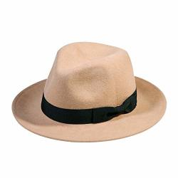 45a9c38c0 Wool Fedora Hat-women's Felt Floppy Panama Hats Vintage Classic Ladies Wide  Brim Cap's Band Accent Camel | R2815.00 | Fancy Dress & Costumes | ...