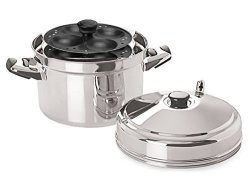 Tabakh IC-214 Cooker With Non-stick 4-RACK Idly Stand Makes 16 Stainless Steel