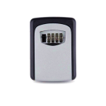 Key Storage Lock Box With 4 Digit Combination - Silver