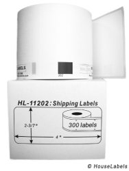 "HouseLabels 6 Rolls 300 Labels Per Roll Of Brother-compatible DK-1202 Shipping Labels 2-3 7"" X 4"" 62MM100MM -- Bpa Free"