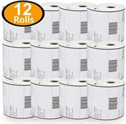 "USA Betckey - 4"" X 6"" Blank Shipping Labels Compatible With Zebra & Rollo Label Printer Not For Dymo 4XL Premium Adhesive & Perforated 12 Rolls 3000 Lab"
