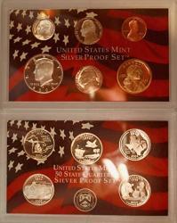 2004 S Us Mint Silver Proof Set Ogp