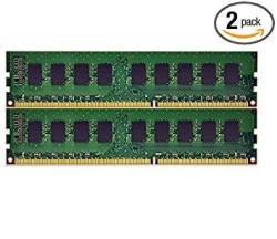 New 8GB 2X4GB Memory RAM PC3-10600 Ecc Unbuffered For Dell Poweredge R210