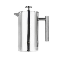 Etime 34 Oz Stainless Steel French Press Coffee Maker Double Walled Insulated Coffee And Tea Brewer Pot & Maker For Hot With Extra Filters