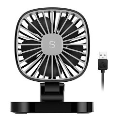 COMLIFE 5V USB Electric Car Fan 4 Inch Rotatable Car Cooling Fan With 3 Speeds Quiet Powerful Car Air Circulator Fan For All Fam