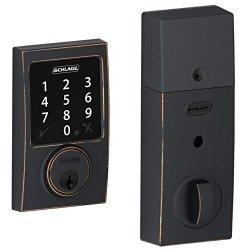 Schlage Lock Company BE468CEN716 Connect Century Touchscreen Deadbolt Aged Bronze