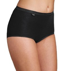 Sloggi Womens Pack Of 3 +1 Free Basic Maxi Briefs&nbsp Black Size Us 14 - Fr 44
