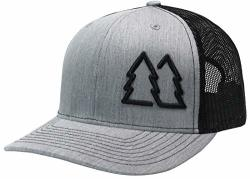 Wue Simple Pine Trees Trucker Hats For Men Adjustable Snapback Mesh Cap Great For Outdoors Heather black