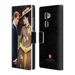 Official Outlander Jamie And Claire Characters Leather Book Wallet Case Cover Compatible For Huawei Mate S