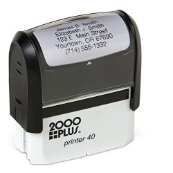 Artistic Labels Basic Personalized Self-inking Address Stamp With 5 Lines - Black Ink