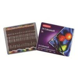 Derwent Coloursoft Pencils - Set Of 24