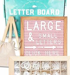 Felt Letter Board 10X10 Pink +690 Pre-cut Letters +cursive +upgraded Wooden Sorting Tray Letter Board With Letters Letters Board