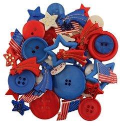 Buttons Galore Inc Buttons Galore 50-VALUE Pack Patriotic Button