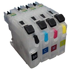 Promiseink Ceye For Brother MFC-J985DW J985DWXL J5920DW Refillable Ink Cartridge LC20E Empty