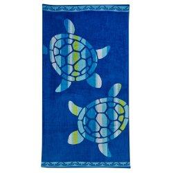 Always Home Turtle Jacquard Beach Towel