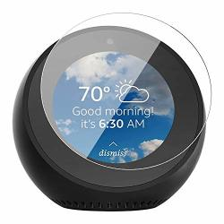 DEESEE TM NEW2 PC Screen Protector Full Coverage Tempered For Amazon Echo Spot New Clear