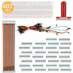 Aoicrie Raspberry Pi Kit For Raspberry Pi 3 B Kit 830 MB-102 Tie Points Solderless Breadboard + Gpio T Type Expansion Board + 65PCS