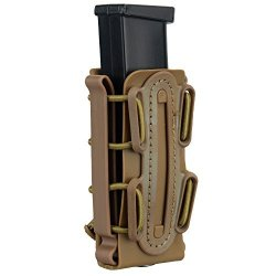IDOGEAR 9MM Pistol Magazine Pouch Tactical Fastmag Soft Shell Mag Carrier Hunting Airsoft Gear Coyote Brown